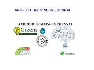 Android Training in Chennai | Android Training Institutes in Chennai, OMR.