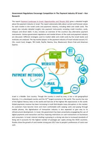 Israel Payment Landscape Market Research Report-Ken Research