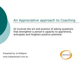 An Appreciative approach to Coaching