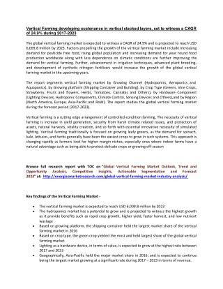 Vertical Farming Market Report   Vertical Farming Market