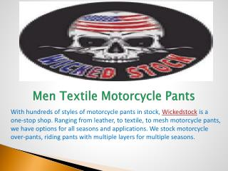 Men Textile Motorcycle Pants