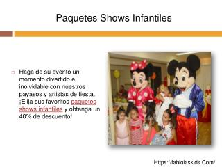 Paquetes Shows Infantiles