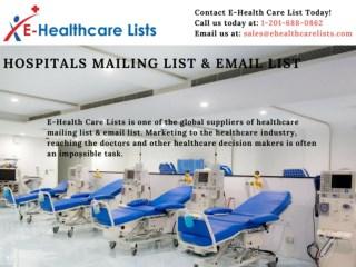 Hospitals Mailing List | Hospitals Email List | Hospitals Database