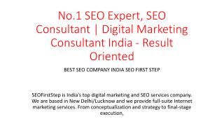 No.1 SEO Expert, SEO Consultant | Digital Marketing Consultant India - Result Oriented