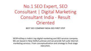 No.1 SEO Expert, SEO Consultant | Digital Marketing Consultant India - Result Oriented