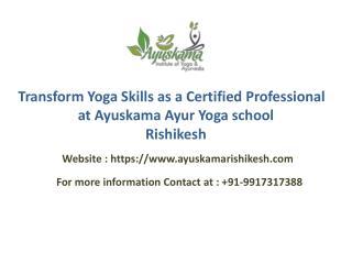 Transform Yoga Skills as a Certified Professional