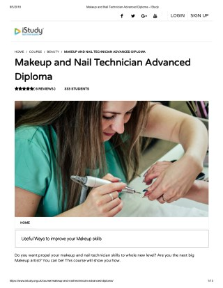 Makeup and Nail Technician Advanced Diploma - istudy