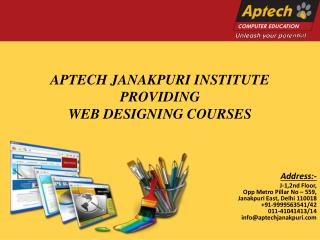 Top 10 Website Development Training Institute in Delhi | Aptech Janakpuri Center