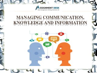 A Sample Report on Managing Communication to Acquire Goals