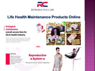 Buy Life Health Maintenance Products Online