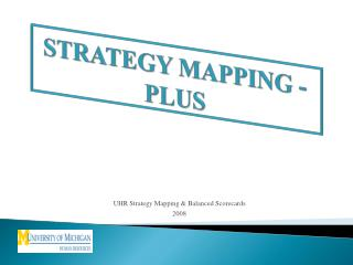 STRATEGY MAPPING - PLUS