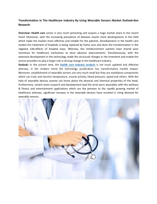 Health Care Market Research Reports, Health Care Industry Analysis-Ken Research