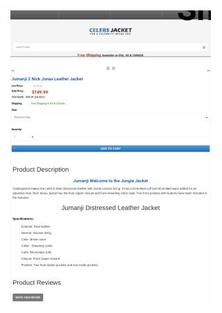 Jumanji Distressed Leather Jacket