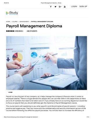 Payroll Management Diploma - istudy
