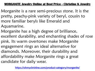 MORGANITE Jewelry Online at Best Price - Christine K Jewelry