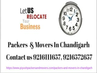 Best  Movers Packers  in Chandigarh |Piyush International Packers And Movers