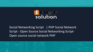 PHP Social Network Script   Open source social network PHP