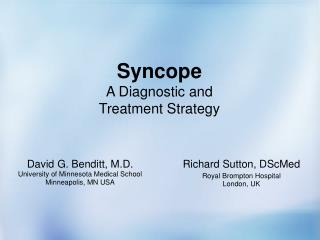 Syncope A Diagnostic and  Treatment Strategy