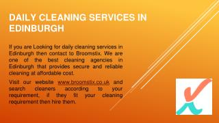 Looking for daily cleaning services in Edinburgh