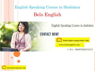 English Speaking Course in Shahdara
