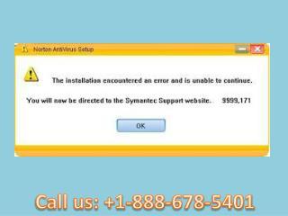 Call  1-888-678-5401 How to fix Norton antivirus installation error