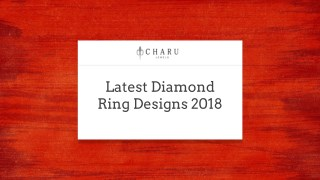 Latest Diamond Ring Designs 2018