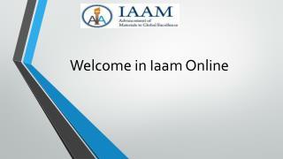 Iaam Online Advanced Materials