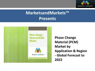 Phase Change Material (PCM) Market