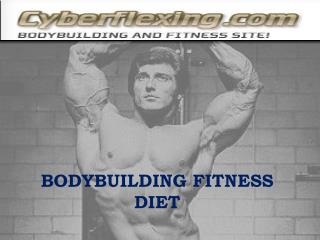 Bodybuilding Fitness Diet