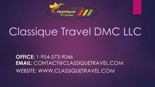 Classique Travel DMC LLC - Destination Management