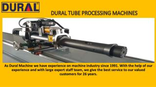 NC Pipe Bending Machines by Dural Bend