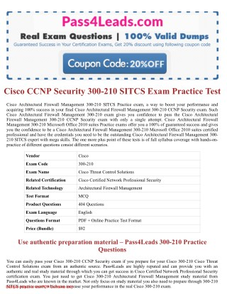 300-210 Exam Practice Test Online - 2018 Updated with 30% Discounted Price