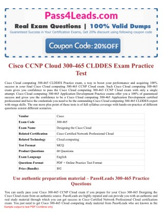 300-465 Exam Practice Test Online - 2018 Updated with 30% Discounted Price