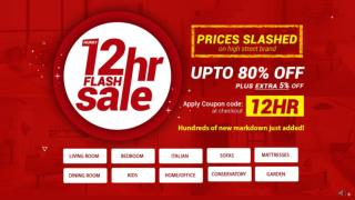 Furniture 12HR Flash Sale Up To 80% Extra 5% Off | Welcome Furniture