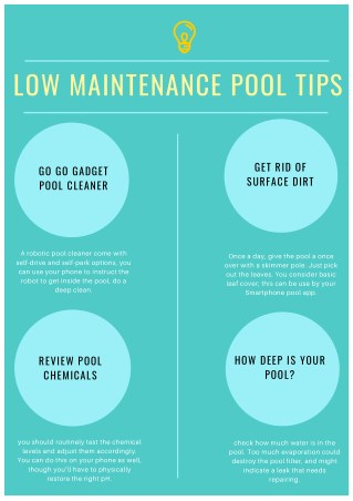 Low maintenance Pool Tips