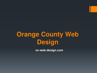 Orange County Web Design - oc-web-design.com