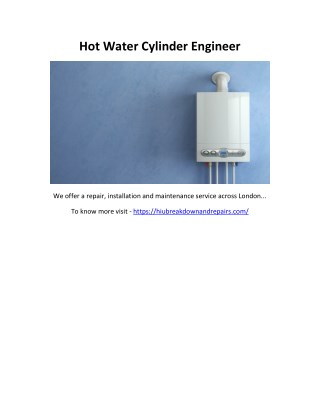 Hot Water Cylinder Engineer