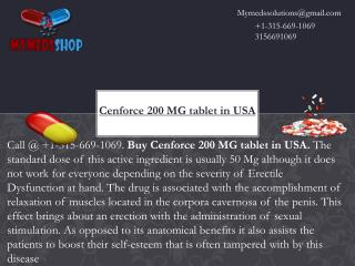 Cenforce 200 MG tablet in USA