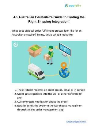 An Australian E-Retailer's Guide to Finding the Right Shipping Integration!