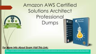 Amazon AWS Certified Solution Architect Professional Pass4sure Exam Braindumps
