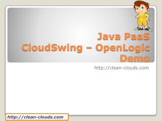 9. Java PaaS - CloudSwing