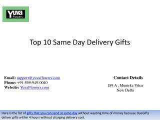 Top 10 Same Day Delivery Gifts