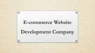 eCommerce Website Development Services Company