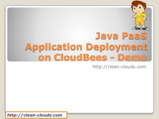 11.Java PaaS Application Deployment on CloudBees - Demo