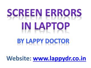Screen issues in laptop By Lappy Doctors.