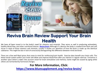 Reviva Brain - Popural Supplement For Brain Health