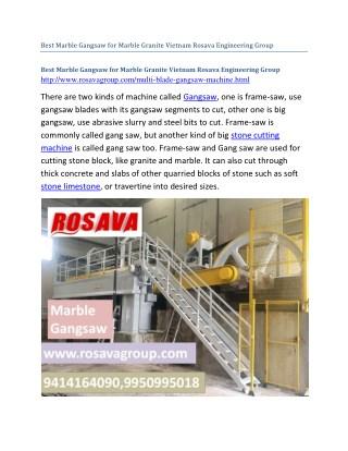 Best Marble Gangsaw for Marble Granite Vietnam Rosava Engineering Group