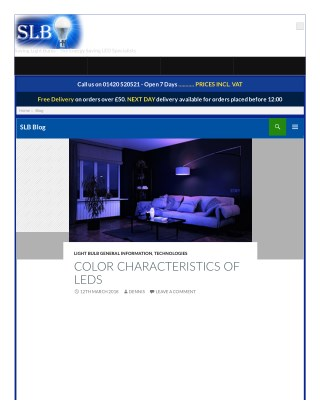 Color characteristics of leds
