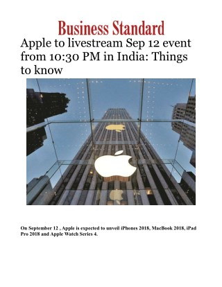 Apple to livestream Sep 12 event from 10:30 PM in India: Things to know