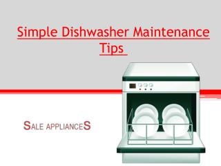 Simple Dishwasher Maintenance Tips